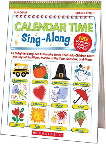 9780439694957: Calendar Time Sing-along Flip Chart & Cd