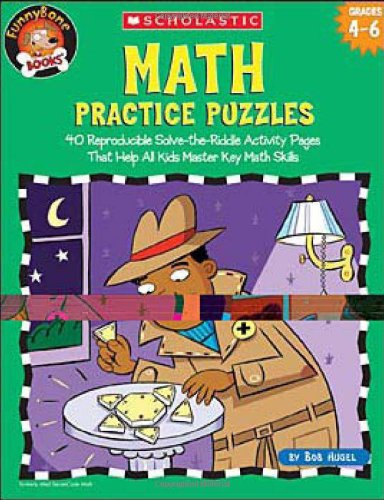 9780439720854: Math Practice Puzzles: 40 Reproducible Solve-the-Riddle Activity Pages That Help All Kids Master Key Math Skills (Funnybone Books)