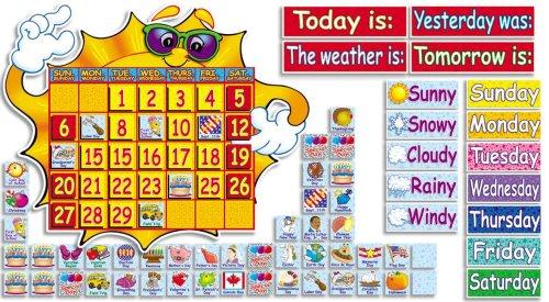 9780439731591: Super Sunshine! Calendar Bulletin Board