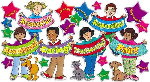 9780439731683: Good Character Kids! Bulletin Board