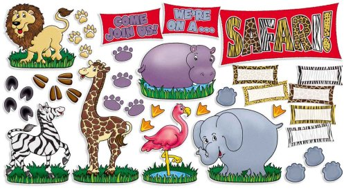 9780439731690: Safari Animals! Bulletin Board