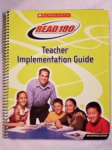 Read 180 Teacher Implementation Guide; Enterprise Edition: Read 180
