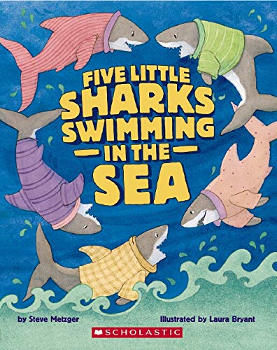 9780439737678: Five Little Sharks Swimming in the Sea