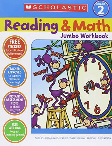 9780439786010: Reading & Math Jumbo Workbook: Grade 2