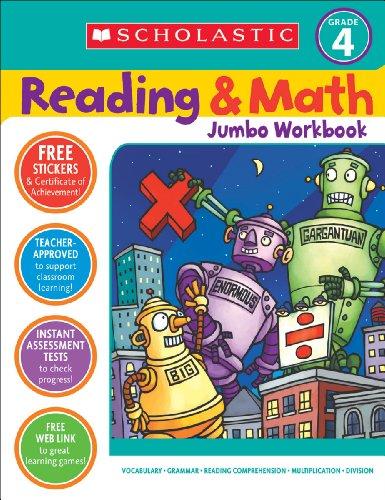 9780439786034: Scholastic Reading & Math Jumbo Workbook Grade 4