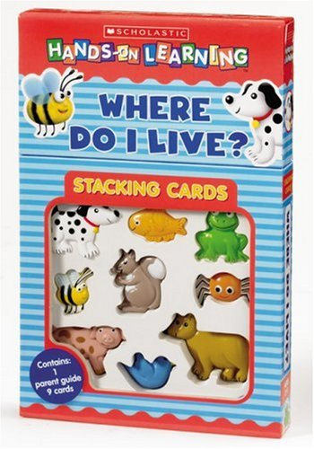 9780439814454: Where Do I Live? (Scholastic Hands-on Learning Stacking Cards)