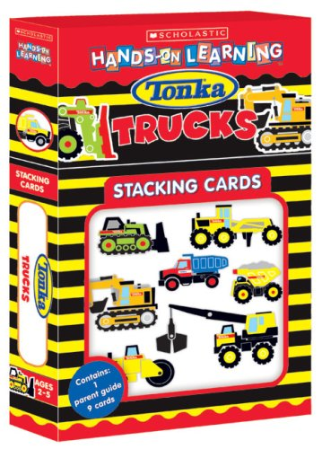9780439814492: Tonka Construction Trucks Stacking Cards (Scholastic Hands-On Learning)