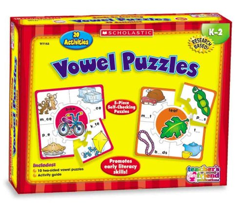 9780439823890: Vowel Puzzles (Scholastic Hands-On Learning)