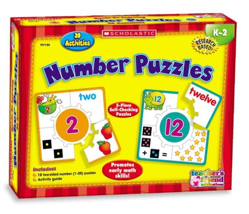 9780439823913: Hands-On Learning: Number Puzzles (Scholastic Hands-On Learning)