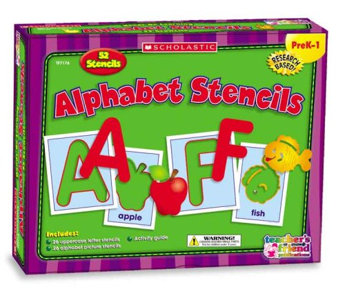 9780439823937: Alphabet Stencils (Scholastic Hands-On Learning)
