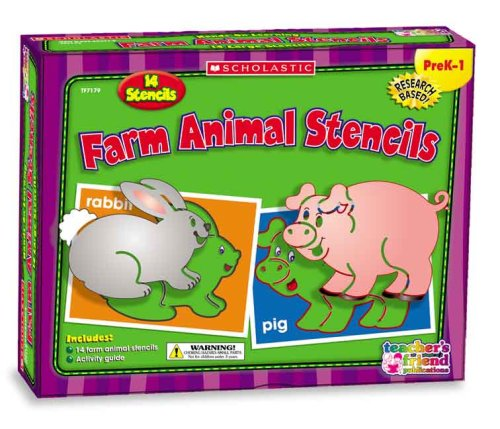 9780439823975: Farm Animal Stencils (Scholastic Hands-On Learning)