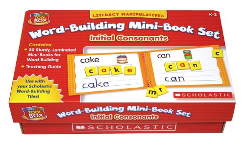 9780439832090: Initial Consonants: Literacy Manipulatives Word-Building Mini-Book Set [With Teacher's Guide]