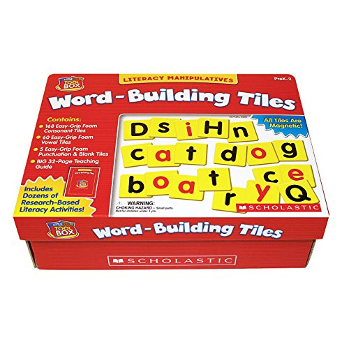 9780439838658: Word-Building Tiles: Literacy Manipulatives [With 32 Page Teacher GuideWith Magnetic Letters]