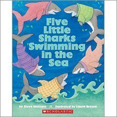 9780439853057: Five Little Sharks Swimming in the Sea (Big Book)