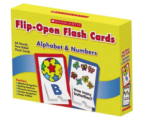9780439862349: Alphabet & Numbers Flip-Open Flash Cards