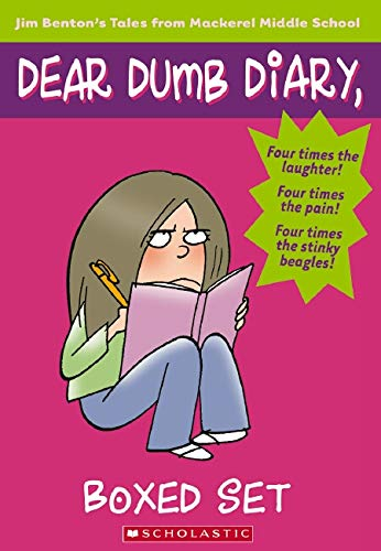 9780439884785: Dear Dumb Diary Books 1-4: Let's Pretend This Never Happened/My Pants are Haunted/Am I the Princess or the Frog?/Never Do Anything, Ever
