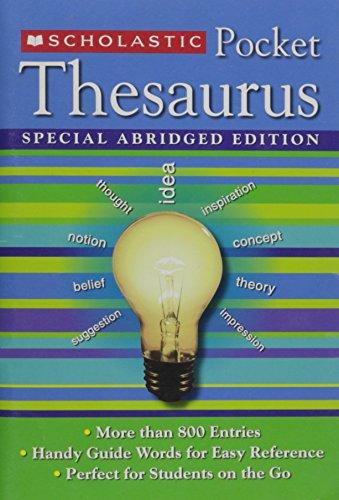 9780439908276: Scholastic Pocket Thesaurus Special Abridged Edition