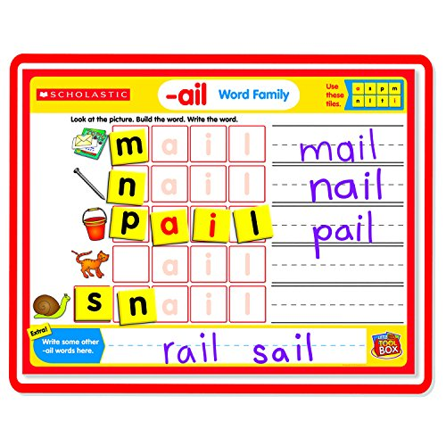9780439909228: Magnetic Mats: Word Families [With 15 Double-Sided Activity Cards and Magnetic Letters] (Little Red Tool Box: Literacy Manipulatives)
