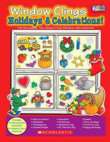 9780439912105: Window Clings Holidays & Celebrations!