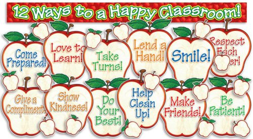 9780439920162: Happy Classroom Apples! Bulletin Board