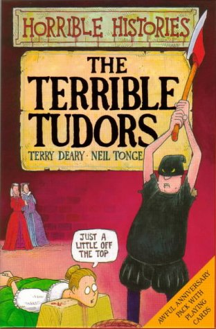 9780439977050: Terrible Tudors Book and Playing Cards Pack (Horrible Histories)
