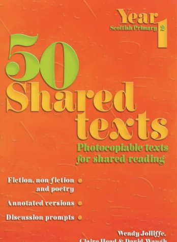 50 Shared Texts for Year 1: Jolliffe, Wendy; Waugh, David; Head, Claire