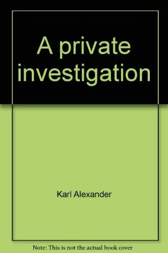9780440068341: Title: A private investigation