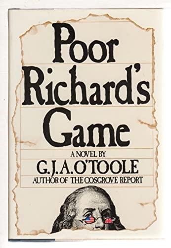 9780440070252: Poor Richard's game