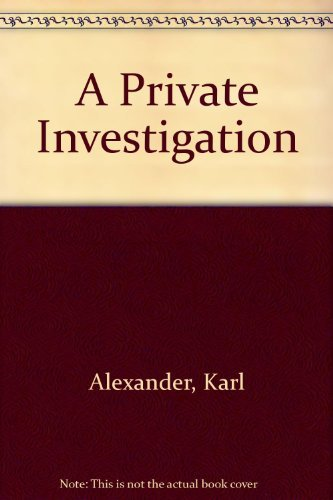 9780440171416: Title: A Private Investigation