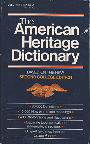 9780440201892: The American Heritage Dictionary (based on the New Second College Edition)