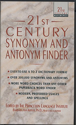 9780440213239: 21st Century Synonym and Antonym Finder (21st Century Reference)