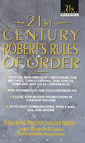9780440217220: 21st Century Robert's Rules of Order (21st Century Reference)