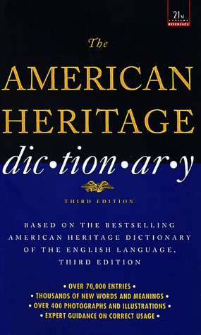 9780440218616: American Heritage Dictionary: Third Edition