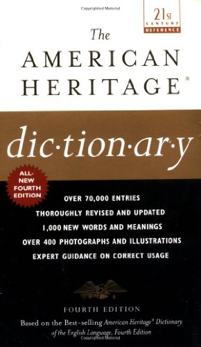 9780440237013: The American Heritage Dictionary: Fourth Edition