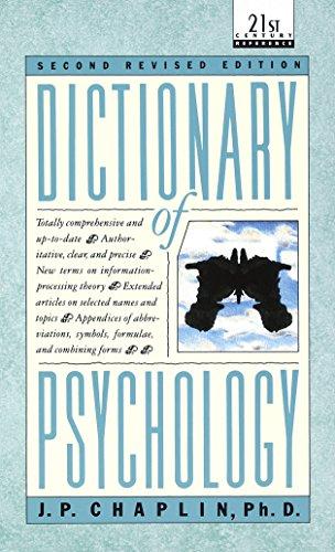 Dictionary of Psychology (Laurel Book): J.P. Chaplin