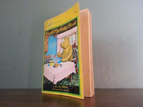 Pooh's Birthday Book: A Reading and Signing: A.A. Milne; E.H.