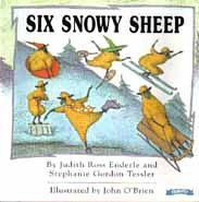 Six Snowy Sheep
