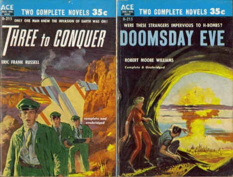 9780441042159: Three to Conquer / Doomsday Eve (Classic Ace Double, D-215)