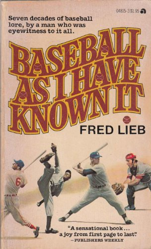 9780441048151: Baseball As I Have Known It