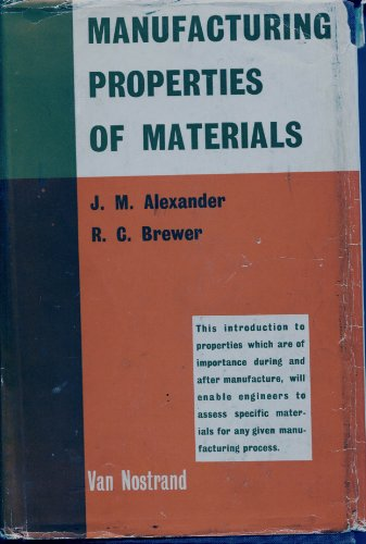 9780442003210: Manufacturing Properties of Materials