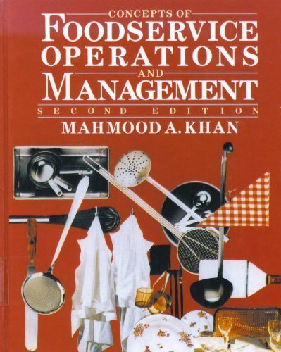 9780442003807: Concepts of Foodservice Operations and Management