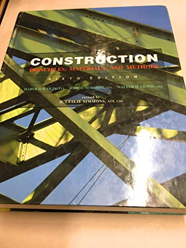 9780442006051: Construction: Principles, Materials, and Methods (Building Construction)