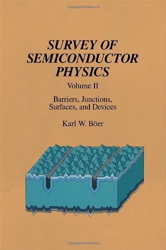 9780442006723: Survey of Semiconductor Physics Volume II: Barriers, Junctions, Surfaces, and Devices
