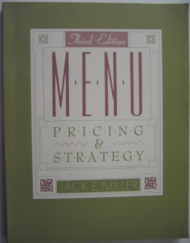 9780442006921: Menu Pricing and Strategy