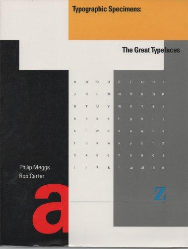 9780442007584: Typographic Specimens: The Great Typefaces
