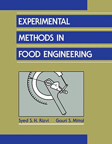 9780442008864: Experimental Methods in Food Engineering (VNR Computer Library)