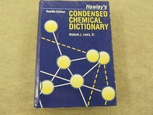 9780442011314: Hawley's Condensed Chemical Dictionary