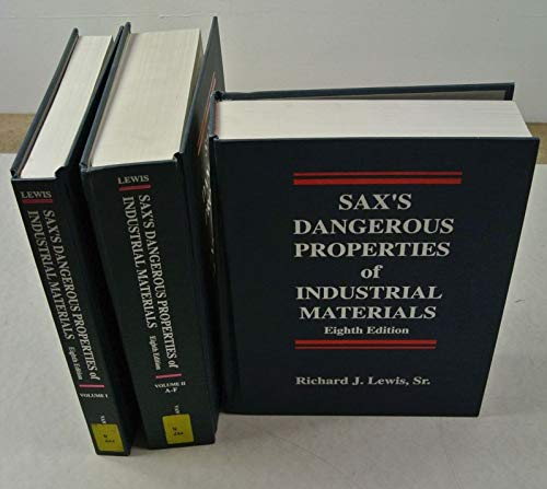 9780442011321: Sax's Dangerous Properties of Industrial Materials