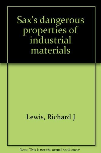 9780442012779: Title: Saxs dangerous properties of industrial materials