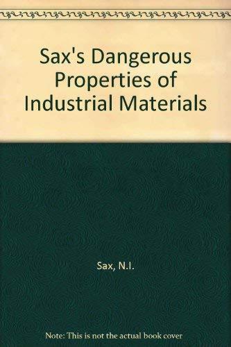 9780442016753: Sax's Dangerous Properties of Industrial Materials